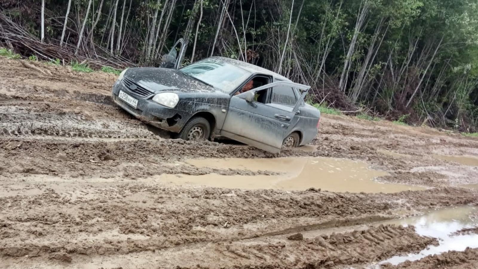 Жуткая дорога на границе Вологодской и Костромской областей