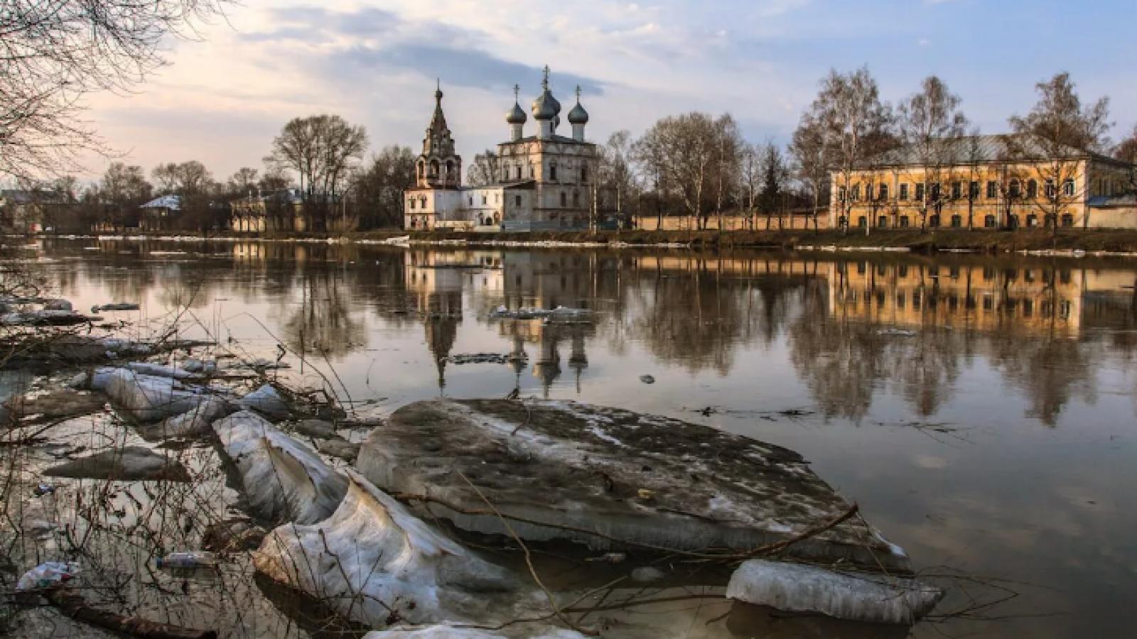 В Вологде уровень воды в реке поднялся на 50 см