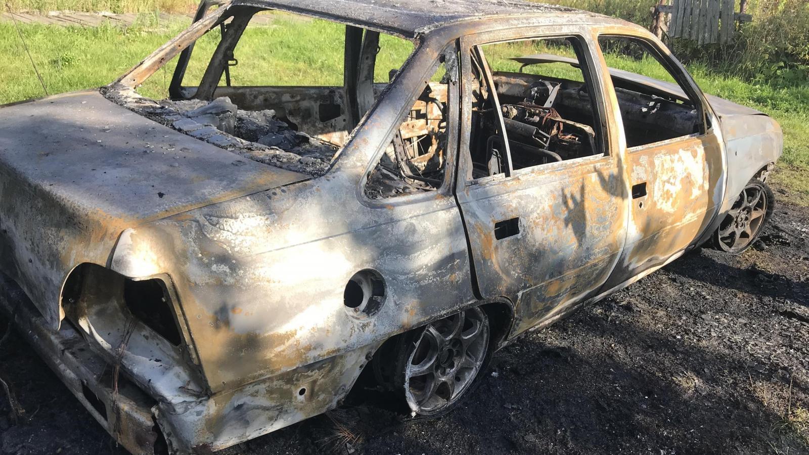 В Вологде сгорел автомобиль