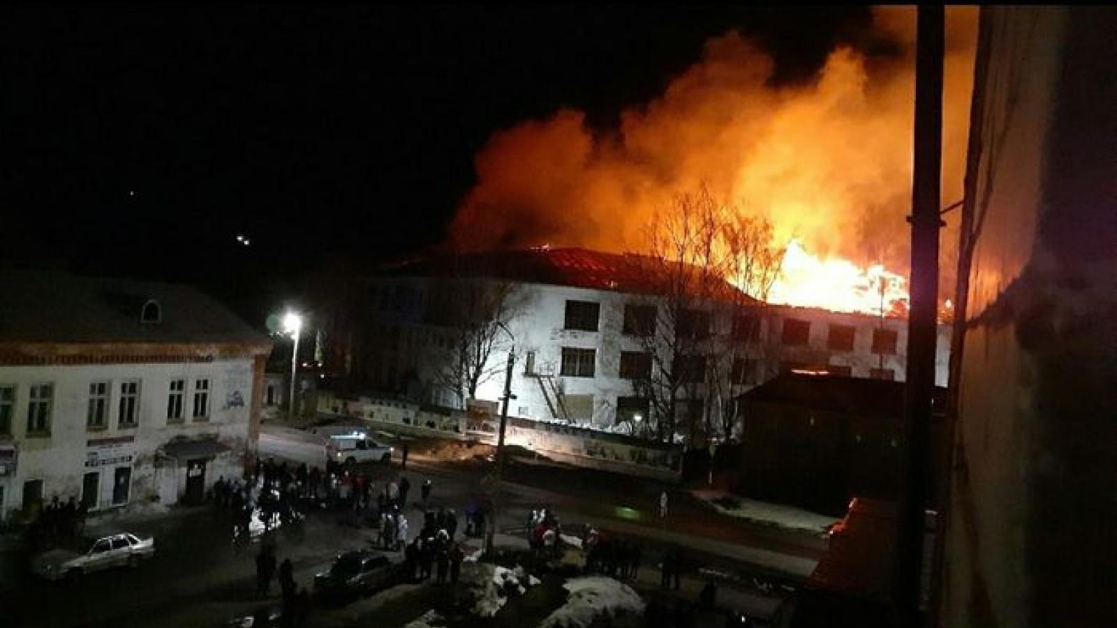 Крупный пожар в Красавино