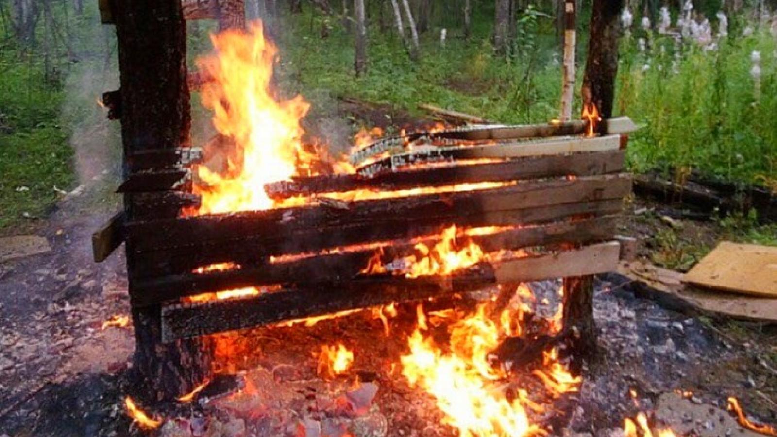 Подросток обгорел в самодельном шалаше
