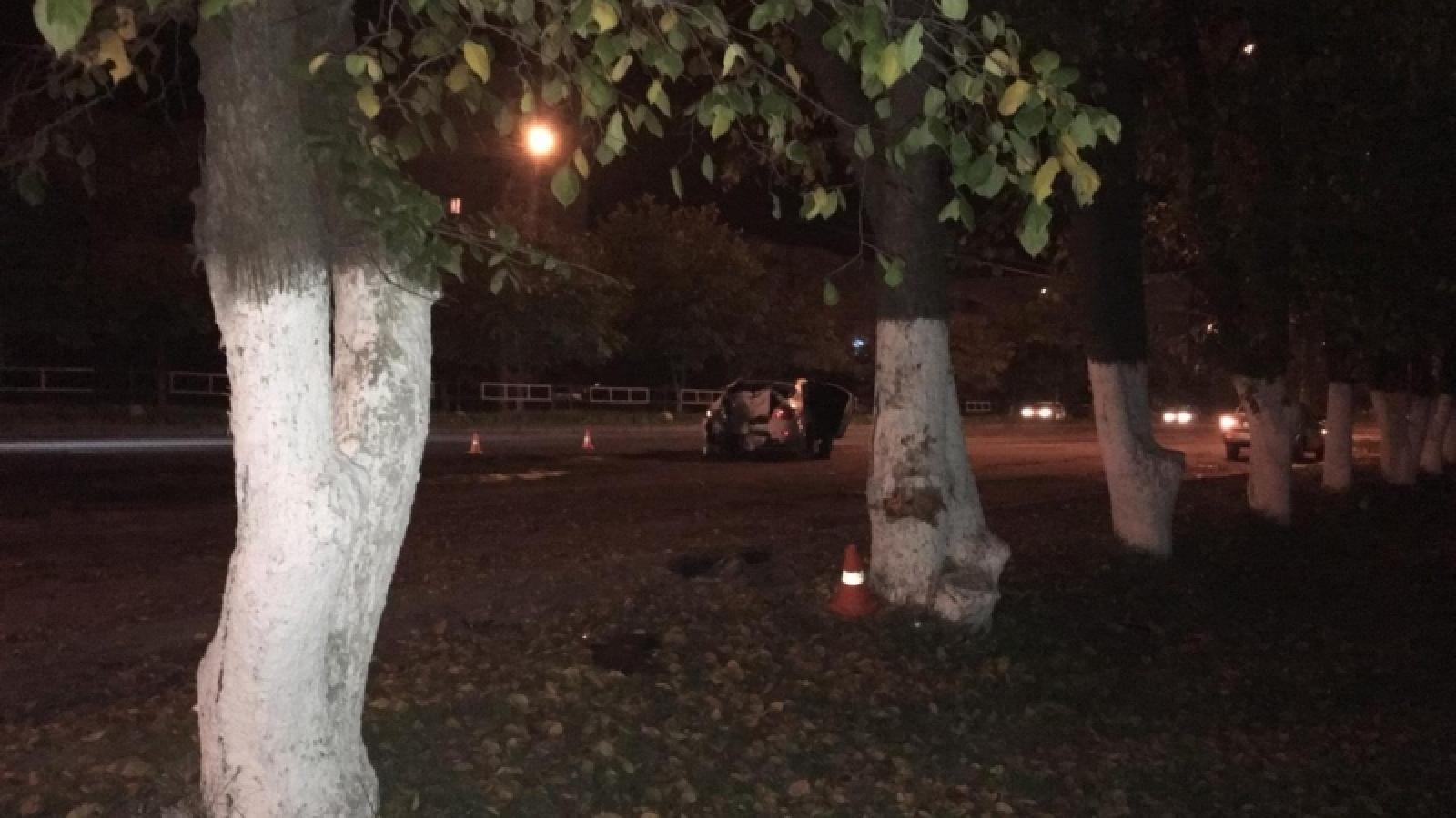 В Вологде автомобиль влетел в дерево