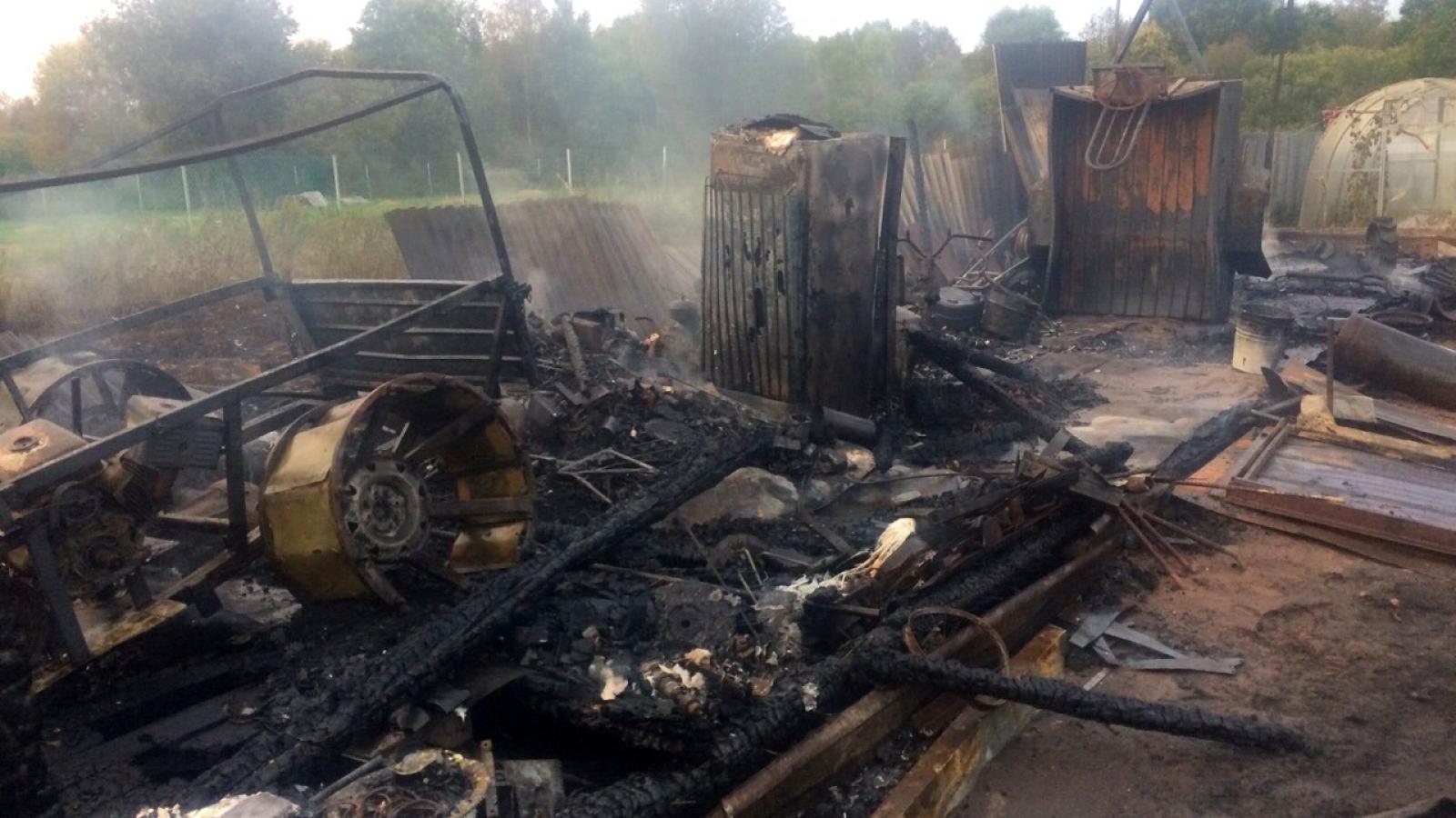 В Череповецком районе сгорел дачный дом