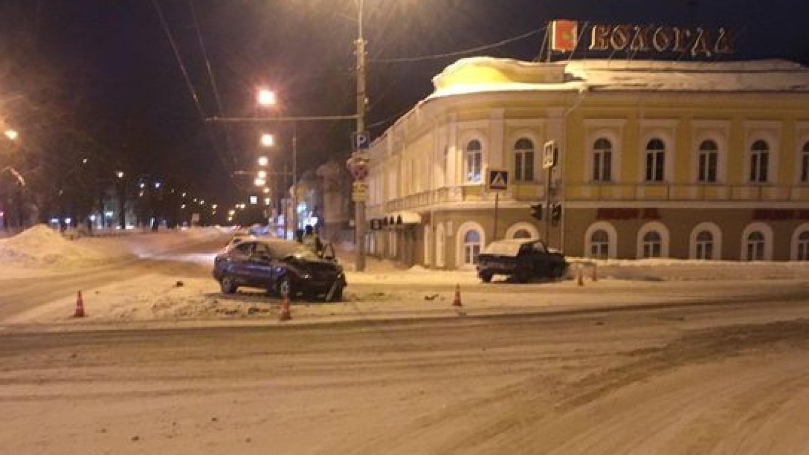Ночная авария в Вологде