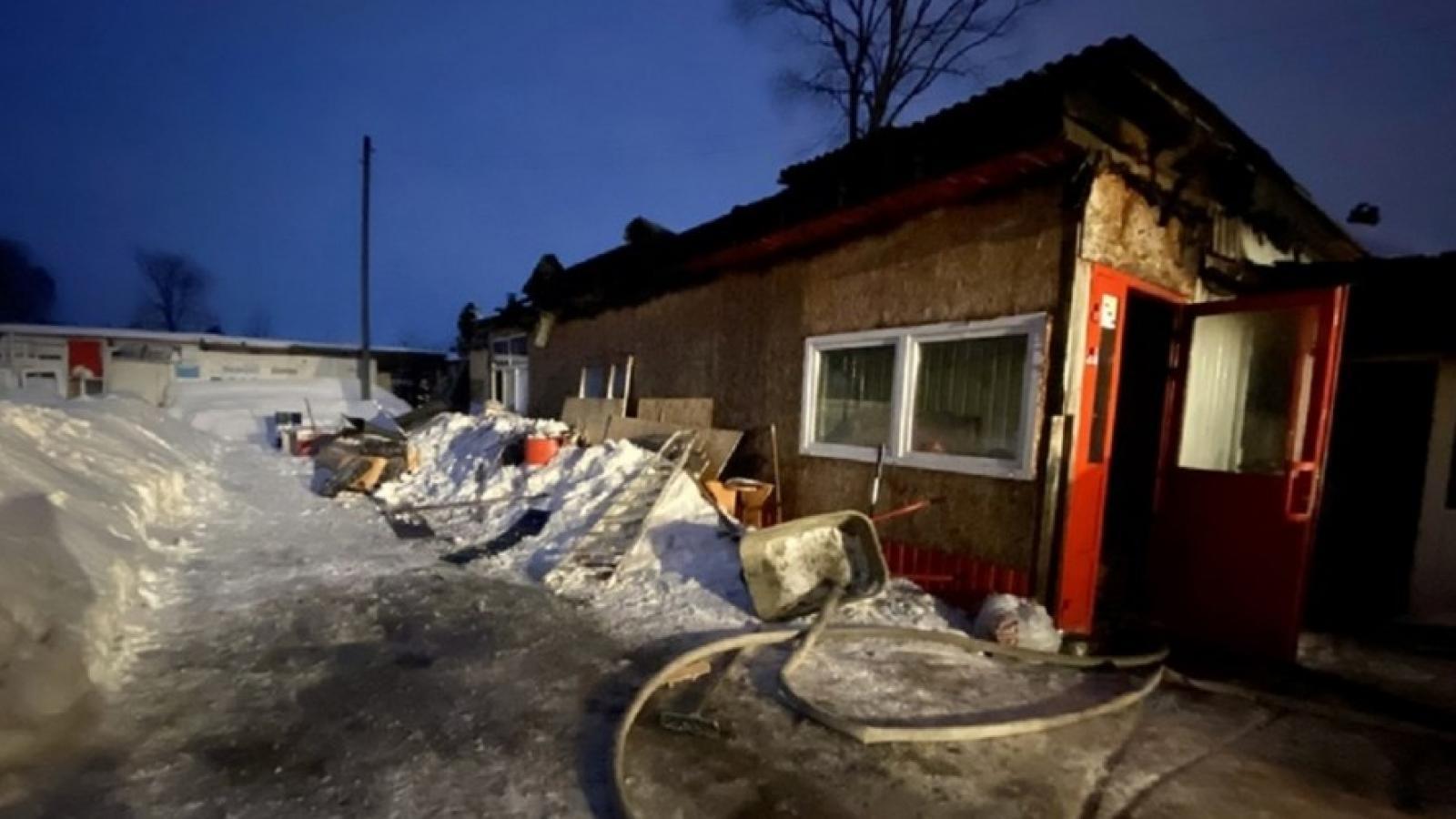 6 рабочих пострадало в пожаре на ул. Заречной