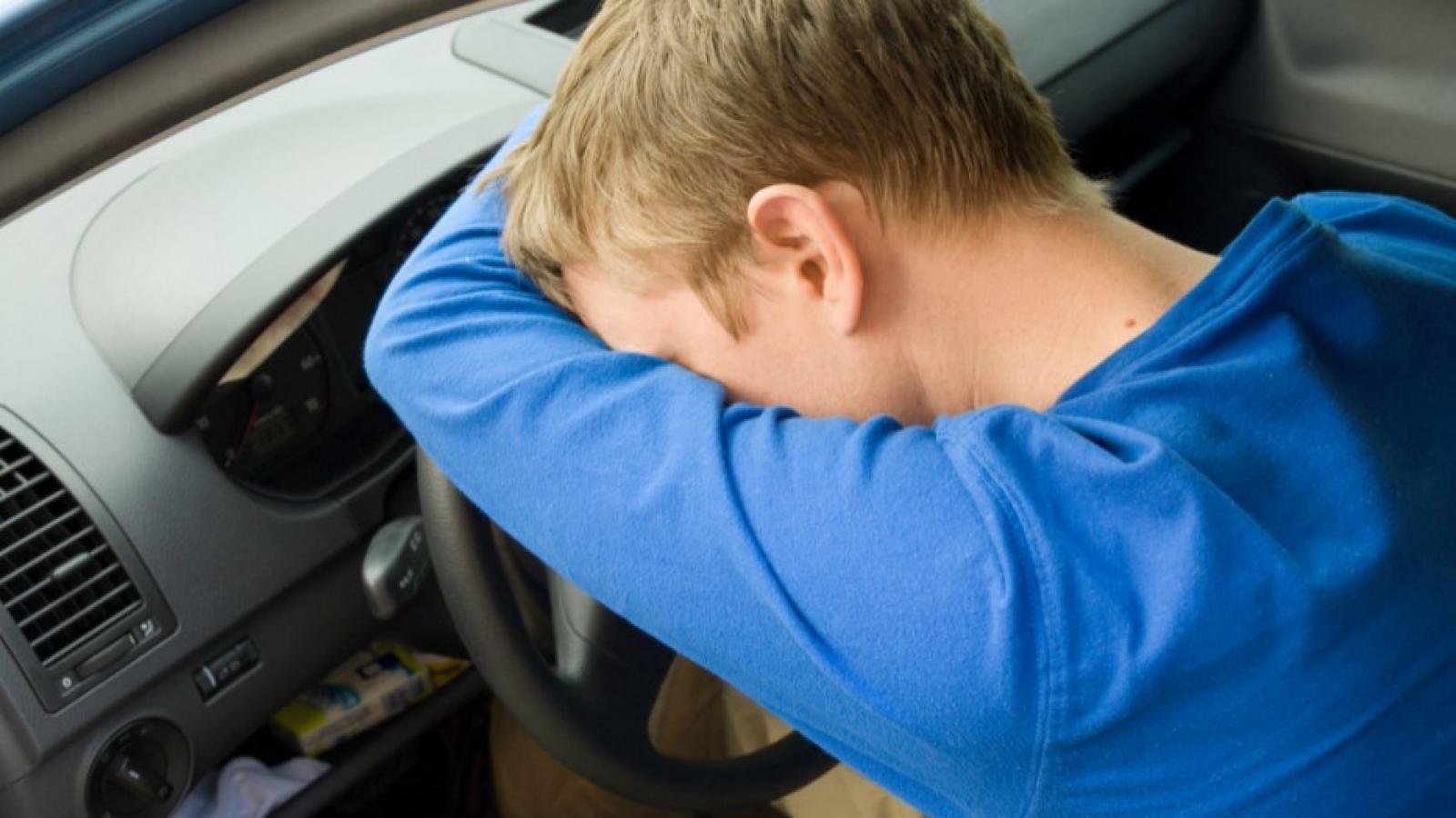 Пьяный вологжанин уснул за рулём