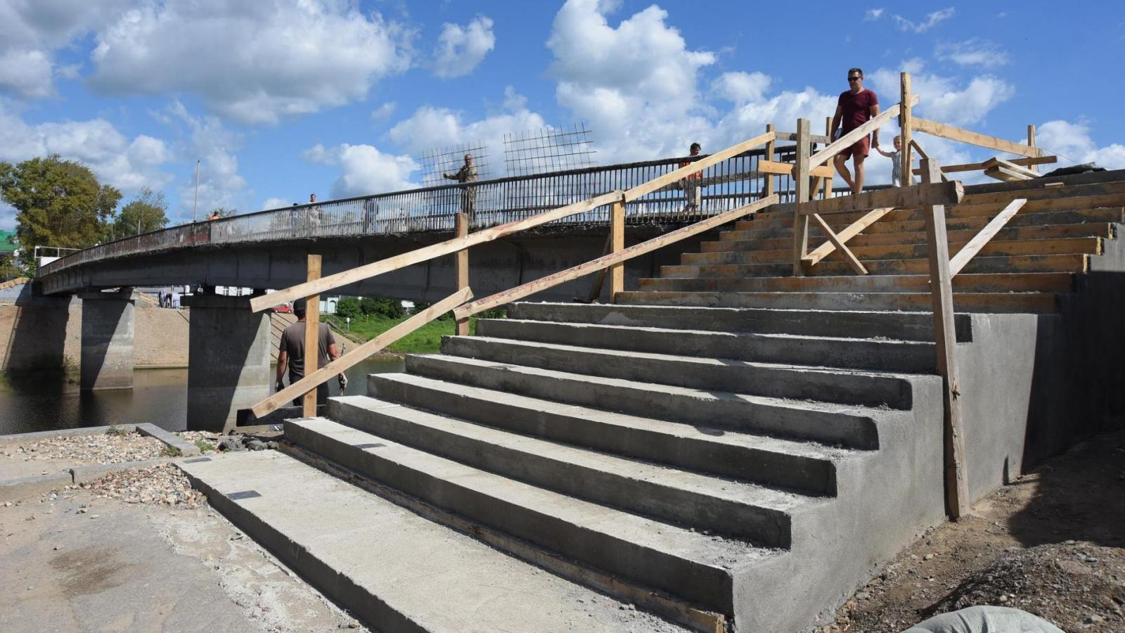 Ремонтные работы на Красном мосту близятся к завершению