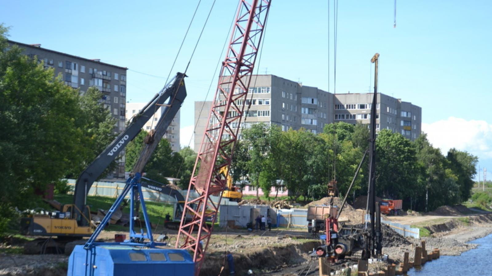 В Череповце строят набережную в районе Курсантского бульвара