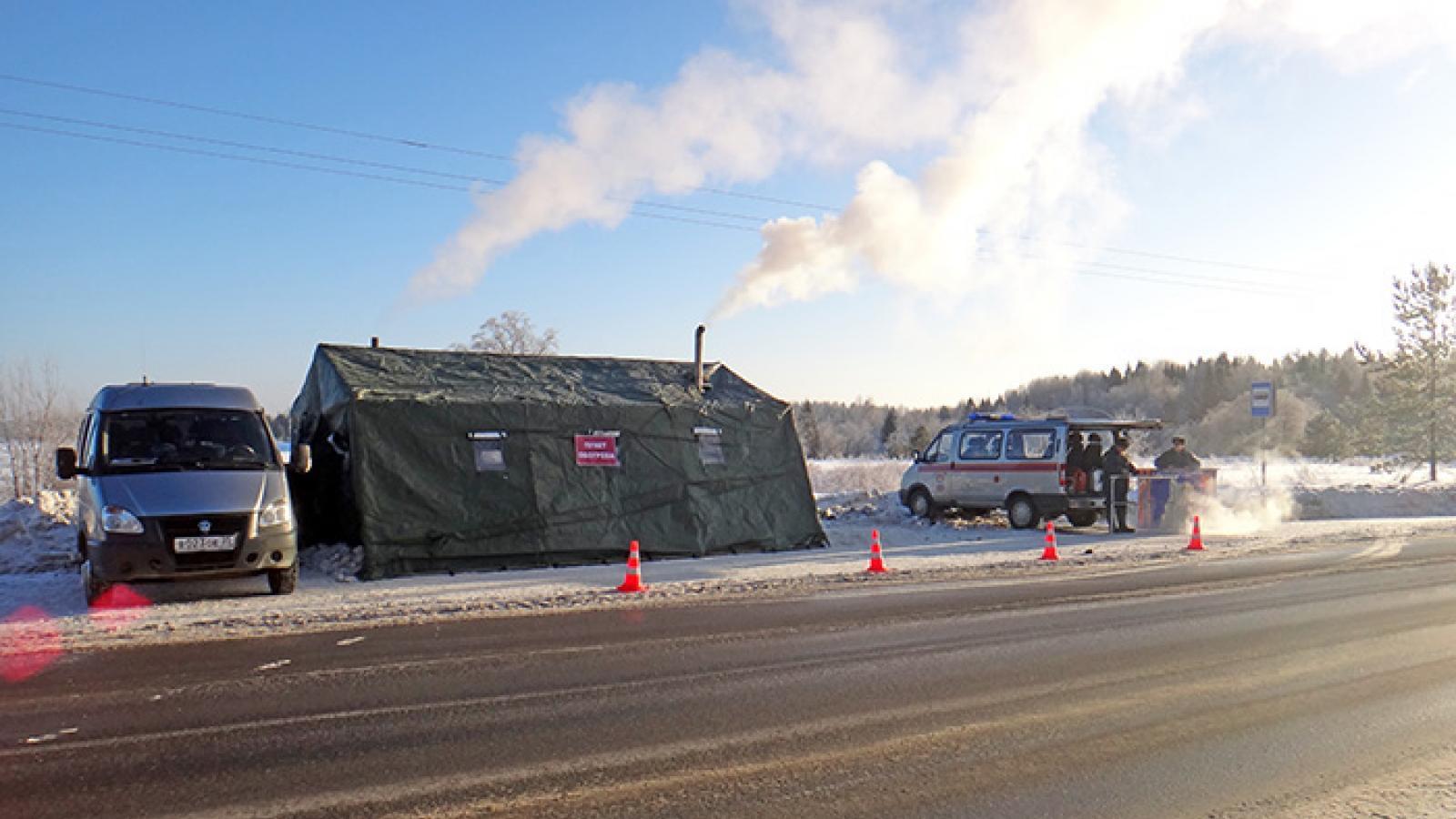 Замерзшие водители смогут остановиться на специальных пунктах обогрева