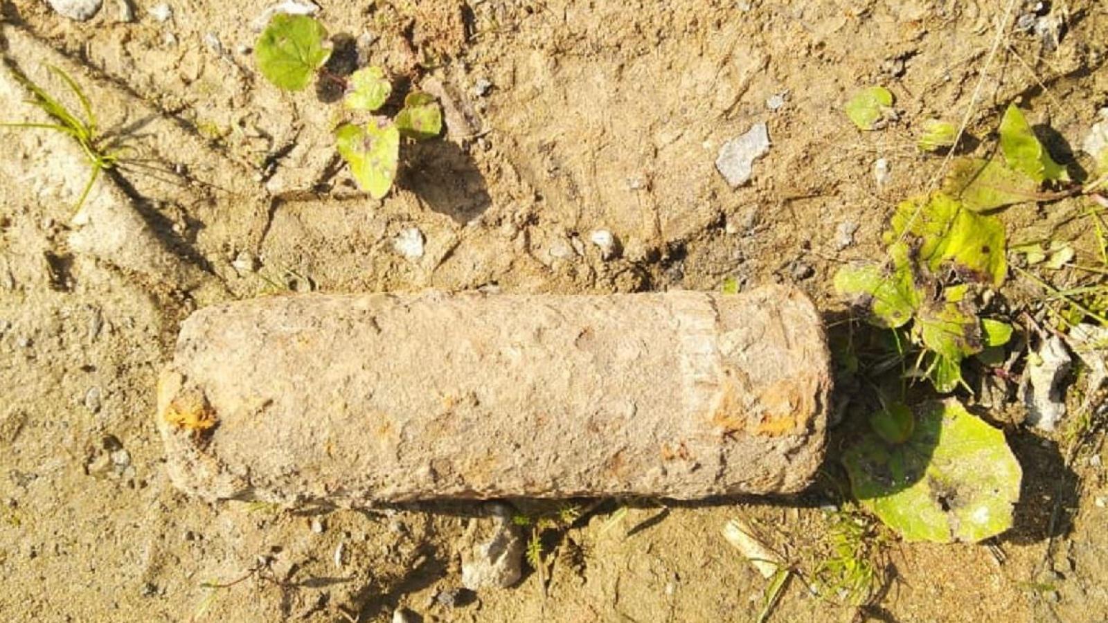 Череповчанин нашел на участке артиллерийский снаряд