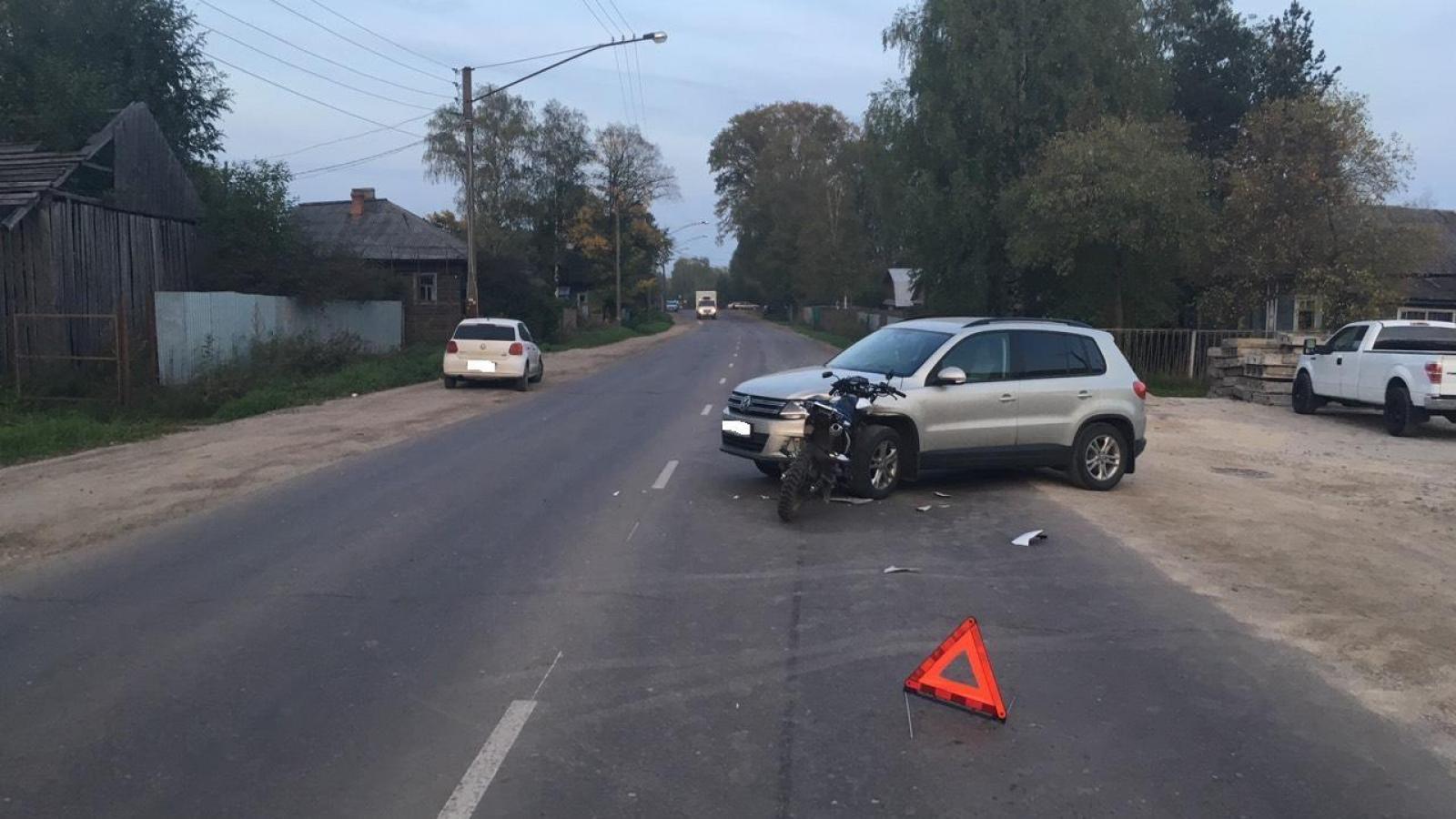2 мотоциклиста получили травмы во время ДТП