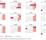 Календарь выходных и праздничных дней в 2018 году