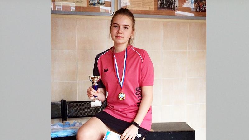 Вологжанка Анастасия Березина завоевала «золото» на Всероссийском турнире по настольному теннису