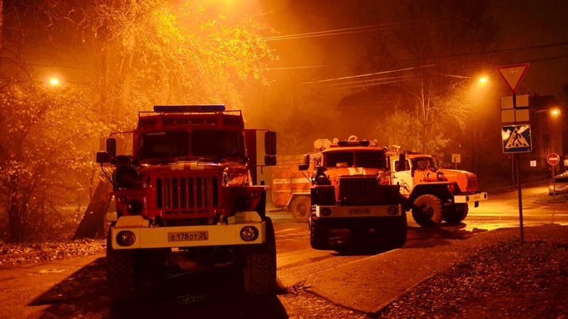 Пожар в 16-этажке тушили сегодня ночью в Вологде
