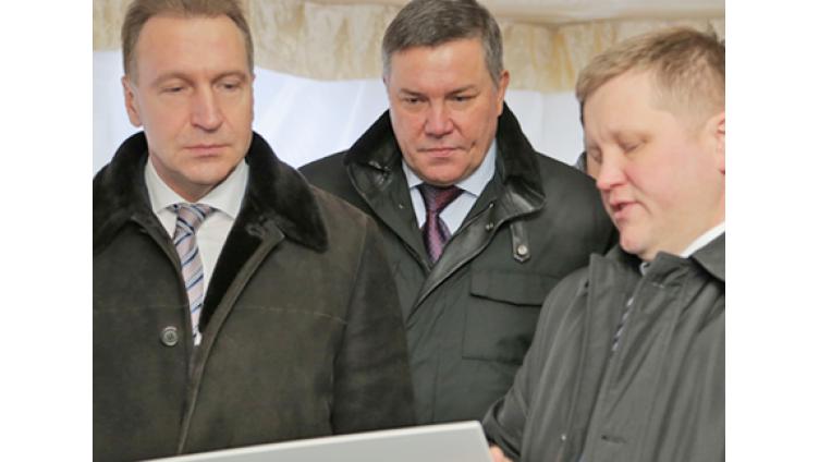 Череповец посетил первый вице-премьер Игорь Шувалов