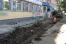 Ремонт тротуара на улице Козленской в Вологде идет полным ходом