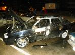 На Окружном шоссе сожгли легковушку