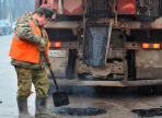 В заречной части Вологды провели ямочный ремонт дорог