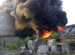 Крупный пожар произошел на старом мазутохранилище в Череповце
