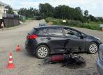 Вологжанин сбил несовершеннолетнего водителя мотоцикла