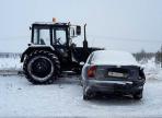 На трассе Вологда-Новая Ладога столкнулись 3 автомобиля и трактор