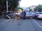 Авария с участием трех машин произошла вчера вечером в Вологде