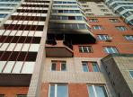24 человека тушили пожар в квартире на улице Ленинградской