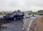 Три машины столкнулись накануне под Вологдой