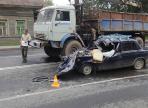 Водитель легковушки погиб в ДТП с Камазом