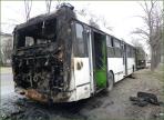 В Вологде загорелся пассажирский автобус