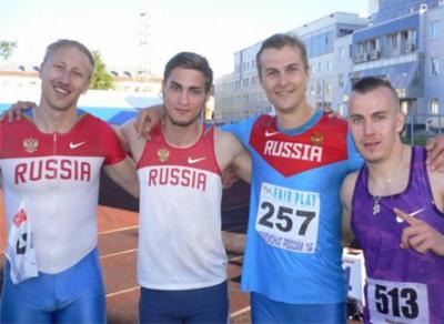 Новый рекорд области установлен в легкоатлетической эстафете 4 х 100 м