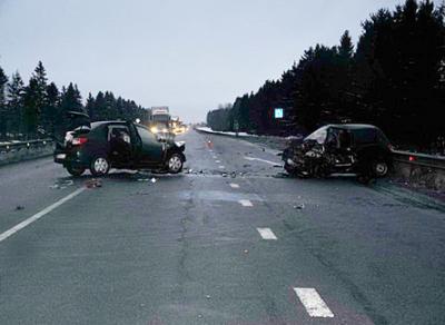 Три автомобиля столкнулись в Вологодском районе: есть пострадавшие