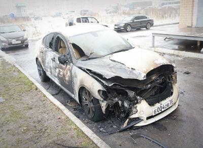 В Череповце сегодня ночью горел «Jaguar»