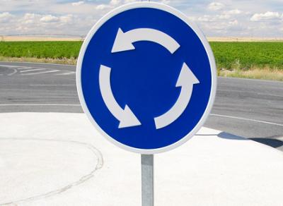 Перекресток с круговым движением организуют на Конева