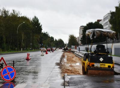 Идет строительство парковки на улице Чехова