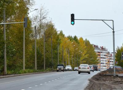 Светофор для пешеходов установлен на Окружном шоссе