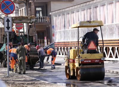 На прошлой неделе в Вологде отремонтировали 2250 квадратных метров дорожного покрытия