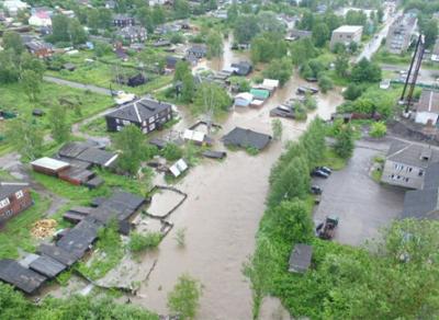 В Вытегре затопило более 30 улиц