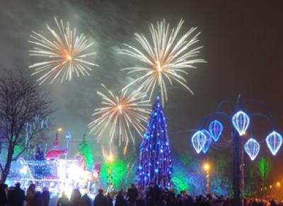 Вологда начала отмечать Новый год