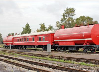 Пожарный поезд потушил горящий дом в Грязовецком районе